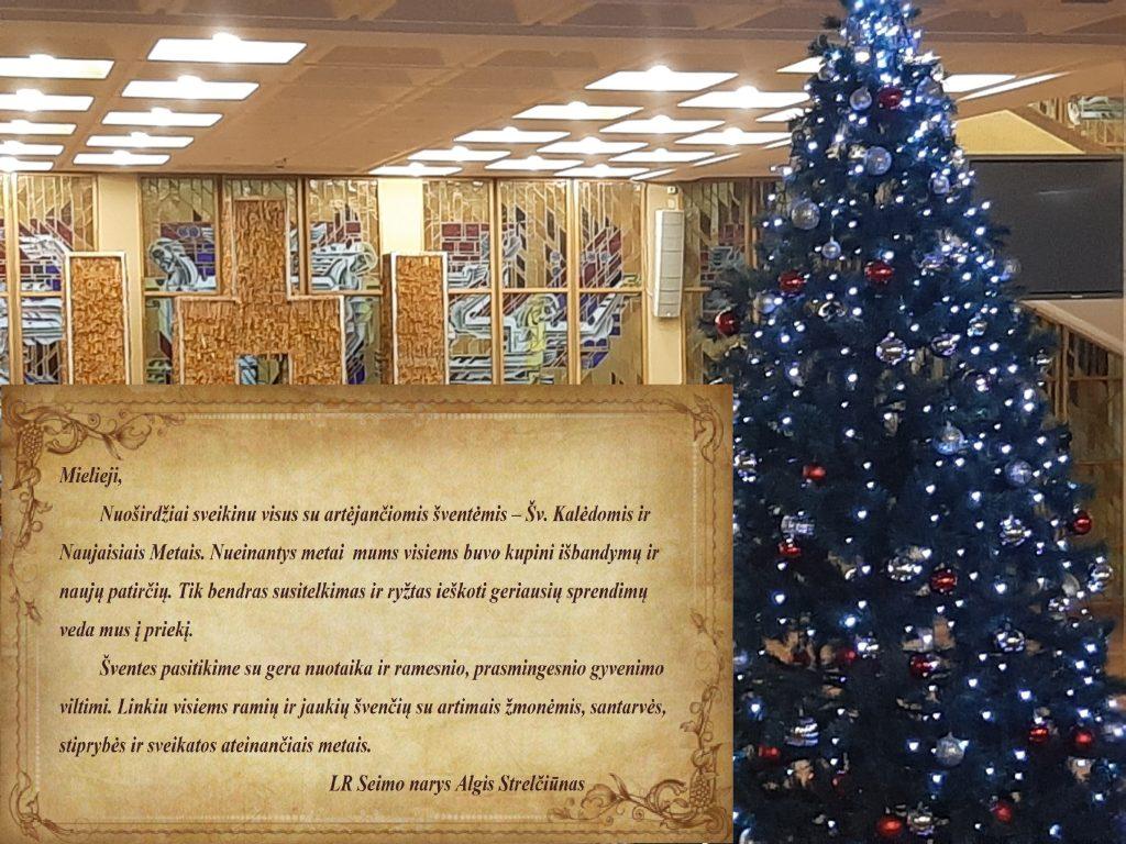 Sveikinimas šv.Kalėdų proga, 2020-12-24